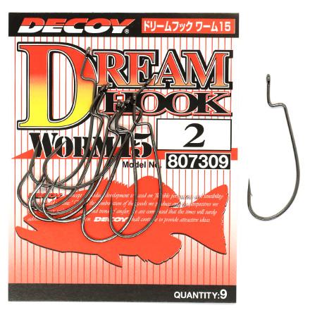 Крючок оффсетный Decoy Dream Hook Worm 15