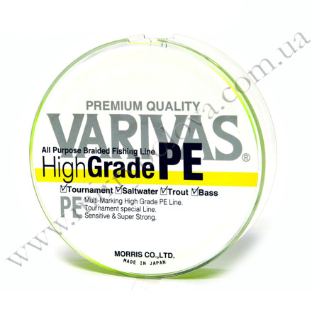 Шнур Varivas High Grade PE Yellow 150м