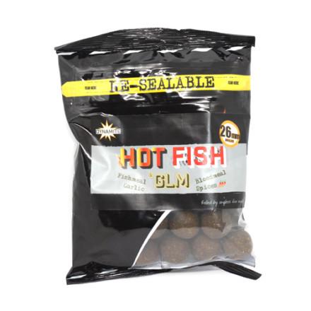 Бойлы Dynamite Hot Fish & GLM 350g
