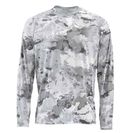 Блуза Simms SolarFlex Crewneck Prints Cloud Camo Grey
