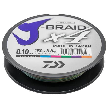 Шнур Daiwa J-Braid X4E 150m Multi Color