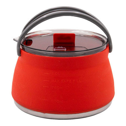 Чайник Tramp силиконовый с металлическим дном терракота