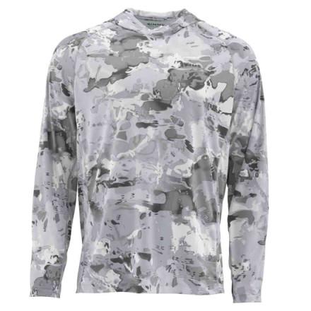 Блуза Simms SolarFlex Hoody Print Cloud Camo Grey