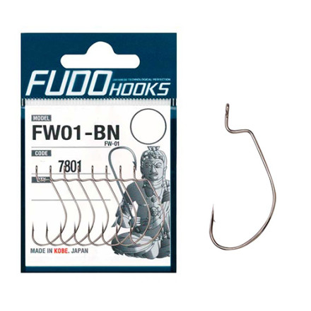 Крючки Fudo Worm FW-01 Black