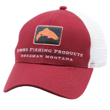 Кепка Simms Trout Icon Trucker Rusty Red