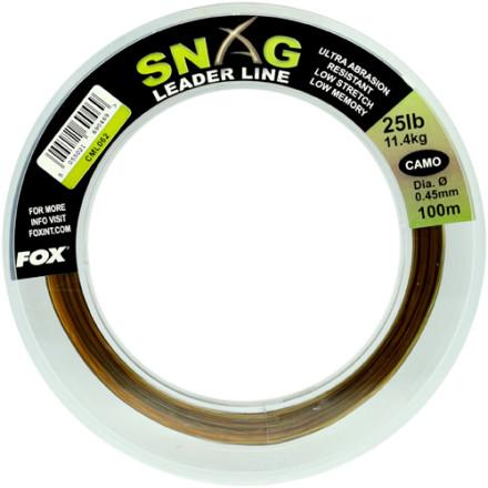 Леска Fox Snag Leader Line Camo 100m
