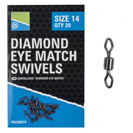 Вертлюжок Preston Diamond Eye Match Swivels