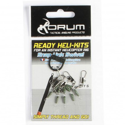 Монтаж Korum Ready Heli-kits Quick Snaplink Swivel