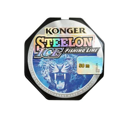 Леска G.Stream Konger Steelon Fluorocarbon Coated Ice светло-серый 50m