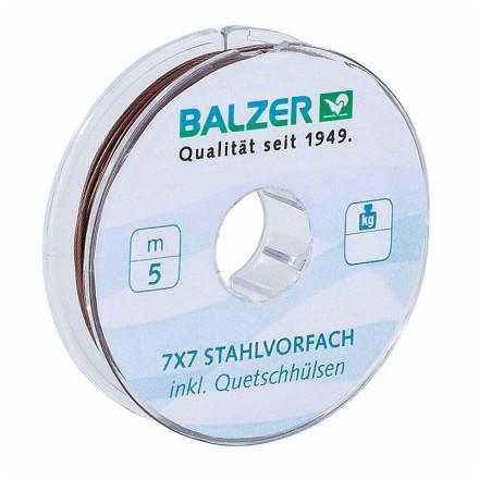 Поводочный стальной материал в оплетке 7х7 Balzer +10обж.труб коричневый