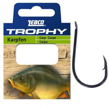 Поводки Zebco Trophy Hooks to Nylon Carp
