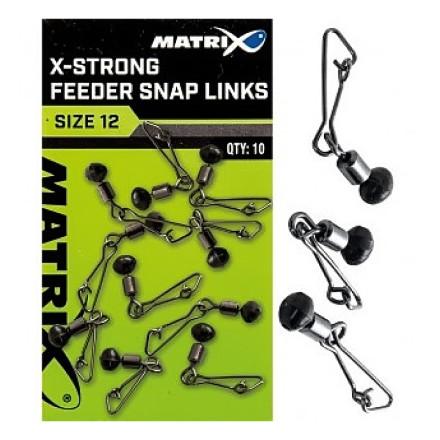 Застежки Matrix X-Strong Feeder Snap Links Size 10x10