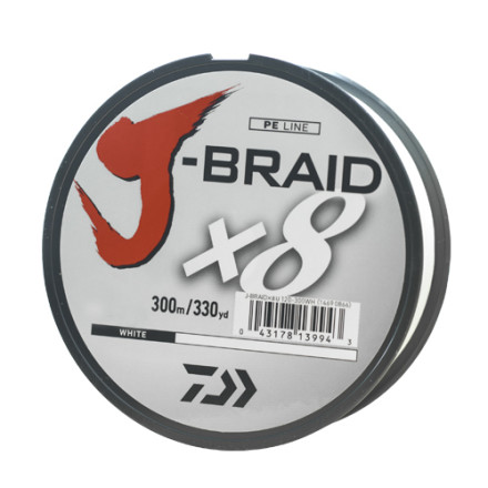 Шнур Daiwa J-Braid X8 White 300м