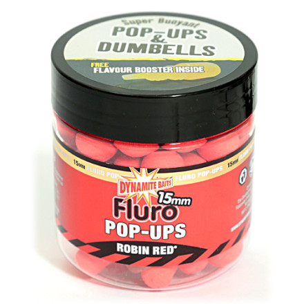 Бойлы DYNAMITE Pop-Ups Fluro Robin Red
