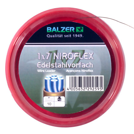 Поводочный стальной материал Balzer 1*7 10обж. трубочек коричневый