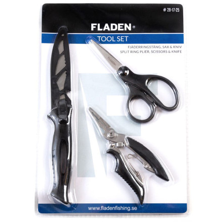 Набор Fladen Tool set plier, scissors, pocket knife (кусачки, ножницы, нож)