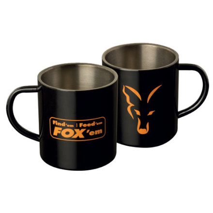 Чашка FOX Stainless Black XL 400ml Mug
