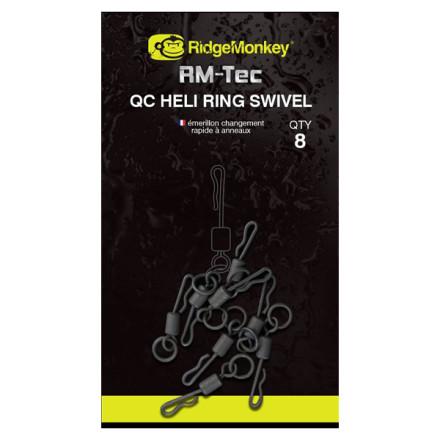 Быстросъемный вертлюжок Ridge Monkey RM-Tec Quick Change Heli Ring Swivel