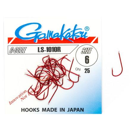Крючки одинарные Gamakatsu LS-1010R Red 25pc