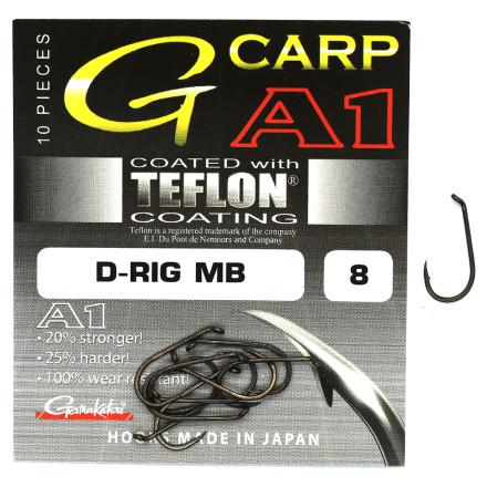 Крючки GAMAKATSU A1 G-Carp D-Rig MB Teflon Coating Grey