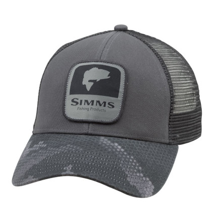 Кепка Simms Bass Patch Trucker Hex Camo Carbon