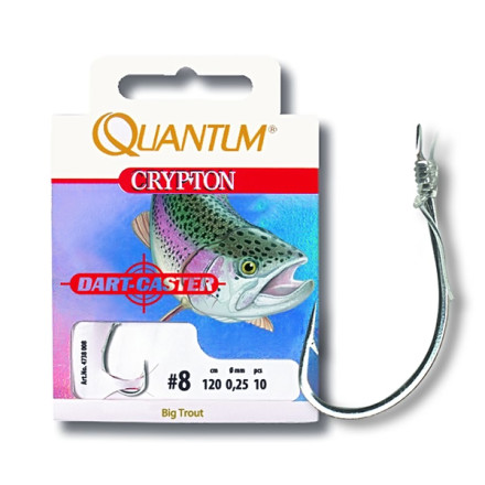 Поводки QUANTUM Crypton Big Trout Vorfachhaken silber
