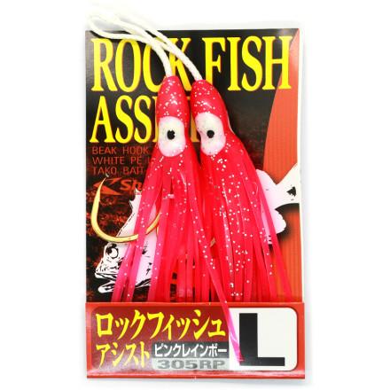 Крючки для пилькеров SHOUT Rock Fish Assist Pink 305RP